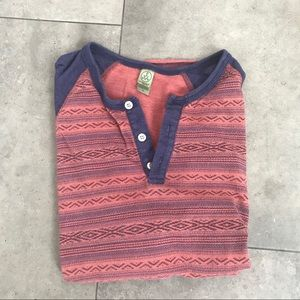 Alternative apparel red and blue henley!